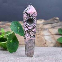 Produttori di prisma di cristallo di pietra del fiore di pesca naturale Caratteristiche del prisma esagonale Produttori di vendite diretti estere nel mare della Cina orientale