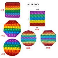 GoBang Pop Fidget Toys Autism Special Needs Design Release Fluorescence unicorn silicone Toy Push Bubble