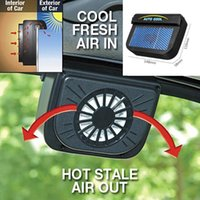 Electric Fans Solar Powered Auto Car Window Air Vent Ventilation Fan Radiator With Rubber Strip System