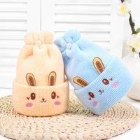 신생아 소녀 모자 아기 부드러운 따뜻한 크로 셰 뜨개질 니트 만화 비니 모자 0-6 개월 동안 귀여운 아기 모자 겨울 948 x2