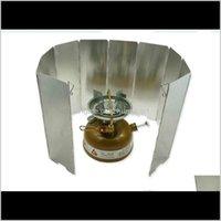 الأدوات 8 لوحة طوي الزجاج الأمامي في الهواء الطلق طبخ الغاز موقد الرياح الدرع نزهة تجهيزات المطابخ أداة التخييم التخييم cqhy9 lzstg