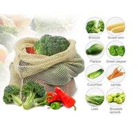 Hanging Baskets Organic Cotton Net Bag Tote Portable Shopping Kitchen Storage Fruit Vegetable