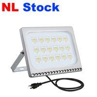 NL stock reflectores de iluminación al aire libre AC110V / 220V US / UE Tape 10W 20W 30W 50W 100W LED Luces de inundación IP65 Aplicar al almacén, garaje, taller de fábrica, patio, jardín
