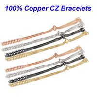 5pcs lot 100% CZ Copper DIY Bracelet Chains Basic Jewelry Bracelets With Two Loops Finding Supplies Making Link, Chain