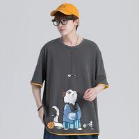 Men's T-Shirts Cotton Fashion T-shirt Funny Mens Summer Tshirts Male Oversized Tee Shirts 5XL Casual T Shirt For Man Streetwear