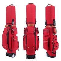 Crestgolf المحمولة جولف بو غطاء حقيبة الهواء سميكة مع عجلة وقفل رمز قابل للسحب