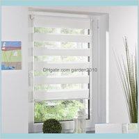 Stores Accueil Décor Jardin Fashion Rouleau Zebra Blind Rideau Fenêtre Office de décoration Blanc Drop Livraison 2021 Khsto