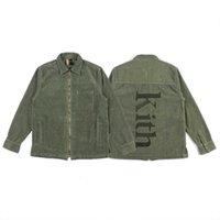 velours côtelé brillant automne kithiket hiver veste broderie fermeture à glissière chemise chemise veste enveloppante hommes