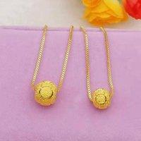 Cadenas de oro color dorado 10 mm / 12 mm bolas colgantes colgantes, collares de declaración de 24k collares colgantes mujeres joyería al por mayor