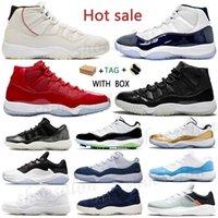 Air jordan 11 Retro aj11 11s jordans shoes Basketball gift jumpman shoes Anniversary Rookie 25TH 11s men women concord 45 Bred High Low Legend Blue Citrus Space Jam Sneakers