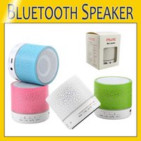 Mini A9 Bluetooth Speaker Wireless Speakers LED Colored Flash Handsfree Stereo Speaker FM Radio TF Card USB For Mobile Phone Computer