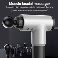 Massage 3000R / Min Pistolet Muscle Relaxation Massager Vibration Vibration Fasciale Pistolet Fitness Création de bruit pour hommes Femme CY200516