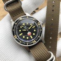 Mira Hombre Hygrómetro Versión especial Japón NH35A Reloj de pulsera mecánica Sapphire Cristal Diver 300m Cincuenta Fathom WristWatches