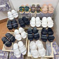 D-Wander Slide Sandalen Luxus Marke Designer Sneaker Sandale Eva Sohle Classics Design Obique Print Mizza Top Qualität Italien Leder entspannte bequeme Schuhe mit Box