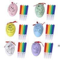 Ostereier Dekor Kinder DIY Handgemalte Graffiti Ei mit Stifte Ostern Party Supplies HWB10504