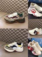 2021 Дизайнер Rhyton Повседневная Обувь Дизайнеры Мужчины Женщины Винтажные Кроссовки Женские Люксы Бегущие Тренеры Chaussures Multicolor Platform Skysker 35-46