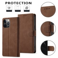 PU Leather Flip Magnetic Wallet Fold Card Holder Phone Cases RFID Protector for iPhone 13 13pro max 12mini 12 12pro 11 Xs XR Samsung Note20 Ultra S21 S20plus A32 A52 A72