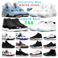 mens basketball shoes 4s jumpman 4 women White Oreo Universi...
