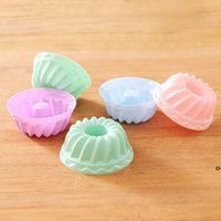 Muffin Cup For Kitchen Round Silicone DIY Baking Cake Mould Muffin Baking Tool Cupcake Molds OWF6953