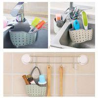 Storage Boxes & Bins Sink Shelf Soap Sponge Drain Rack Rubber Basket Bag Faucet Holder Adjustable Kitchen Accessory Hanging Organizers