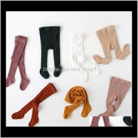 Leggings Pants Clothing Baby, & Maternity Drop Delivery 2021 Wholesale Girls Pantyhose Tights 100Percentcombed Cotton Socks Solid Color Child