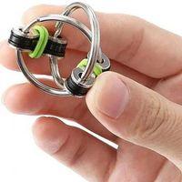 الضغط سلسلة تململ اليد سبينر فنجر ألعاب معدنية تنفيس لعبة دراجة المفاتيح مفتاح حلقة ممل اختبار الهدايا الجدة هفوة اللعب