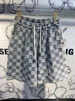 2021 Été Nouveauté Messieurs Designer Demin Demin Tissu Shorts Pantalons ~ Shorts de taille chinoise ~ Pantalon d'été de haute qualité Mens Designer