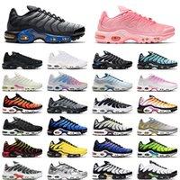 حذاء رياضي 2021 air max plus tn للرجال والنساء حذاء رياضي أسود من Volt Aqua Silver Psychic Blue Particle Grey