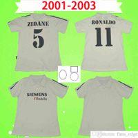 100 лет 1902 2002 Ретро Футбол Джерси 2001 2002 2003 Zidane Figo Raul Roalthdo Реал Мадрид Футбольная Рубашка Верхняя Униформа 01 02 03 Винтаж 100