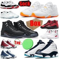 With Box&Tag&Sock mens basketball shoes 11s 12s 13s Bright Citrus Utility Twist Obsidian Court Purple Legend Blue men women trainers sports sneakers