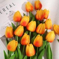 Искусственные тюльпаны Цветы Латексные Реальные свадебные свадебные букет для вечеринки Украшения дома День матери Подарок Sztucne Kwiaty Декоративные венки
