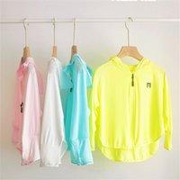 Summer Girls Sun-protective Jacket Ice Silk Anti-UV Breathable Sun-proof Hoodie Rashguard Baby Girl Outdoor Coat Clothing 5 Colors