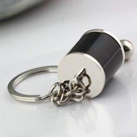 10pcssix - 속도 수동 변속기 레버 키 체인 기어 박스 교대 레버 키 체인 자동차 키 링