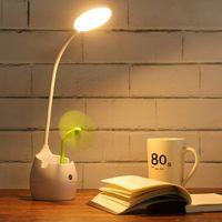 Buchlichter LED Schreibtischlampe Auge mit Stifthalter Student Handy Lade 360 Adjus Dordring Lernbedingung Schlafzimmer Lesen