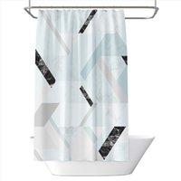 Duş Perdeleri Mermer Geometri Baskılı Banyo Duş Perdesi Ev Dekorasyon