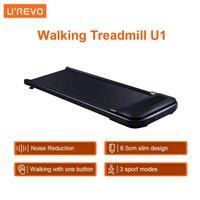 U'revo Walking Laufband U1 Fitness Anti-Slip-Geräuschreduzierung Slim Design 6km / h LED HD-Anzeige Aerobic Sport-Gym-Ausrüstung