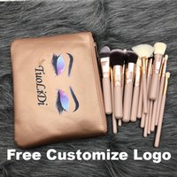 Pink Makeup Brushes For Foundation Powder Eyeshadow Eyeliner Lip Highlighter Cosmetic Brush Tools 15pcs Make Up Brush Set With Plastic Box