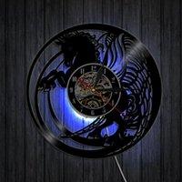Настенные часы Природа Черные Бегущие лошади Уравненные Искусство Дикие Часы Винтажные Рекордные Лошадь Любовник Домашний Декор Аксессуары