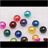 Gocle preziose allentate Consegna di goccia 2021 67mm d'acqua dolce Akoya Ostrica con perle singole miscelate 25 colori Top Quality Round Natural Pearl in aspirapolvere