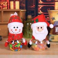 Noel Şeker Kavanoz Plastik Şeffaf Hediye Paketi Kutusu Santa Kardan Adam Elk Noel Dekorasyon Çocuk Hediyeler DWD10126