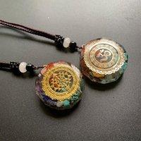 Handgemachte Metatrons Würfel Merkaba 7 Chakras-Kristalle Steine Orgone Anhänger Generator Energiespeicher Halskette Halsketten Halsketten