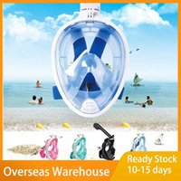 Colors Scuba Diving Mask Full Face Snorkeling Underwater Anti Fog For Swimming Spearfishing Dive Respiratory Masks