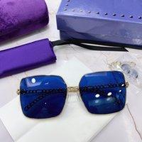جودة عالية للجنسين نظارات شمسية فاخرة ستوردي المعادن النظارات الإطار الملونة عدسة أنيقة تصميم ساحة مكبرة القيادة النظارات في الهواء الطلق