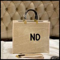 Леди Tote Womens Luxurys Дизайнеры Сумки на ремне Мода Лафит Солома Пластиты Сумки Кошельки Большие сумки Женщины Crossbody Сумка