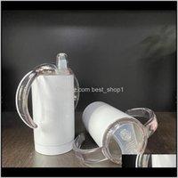 Bottiglie per neonati Blank Blanks Blanks 12oz grasso dritto per bambini tazze isolate fotocamere isolate in acciaio inox tumbler 10pcs DW6 FGCN0