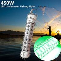 400w 450W Green LED Fishing Light Bait 10M Finder Night Lamp