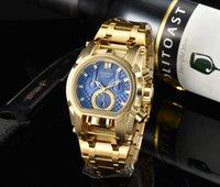 손목 시계 볼트 Zeus 스테인레스 스틸 골드 블랙 남성 패션 스포츠 비즈니스 캐주얼 쿼츠 시계 큰 다이얼 Hight 품질