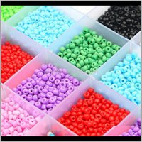 Loose Drop Delivery 2021 150-1000Pcs 2 3 4Mm Charm Czech Glass Seed Beads Diy Bracelet Necklaces Bead For Jewelry Making Earring Necklace G1W