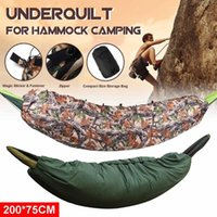 Outddor Kamping Uyku Tulumu Taşınabilir Hamak Underqualt 200x75 cm Çanta Battaniye Altında Termal
