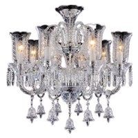Modern LED Chandeliers Living Room Minimalist Restaurant Lamps Creative Bedroom Light Luxury Candle Glass Crystals For Chandelier